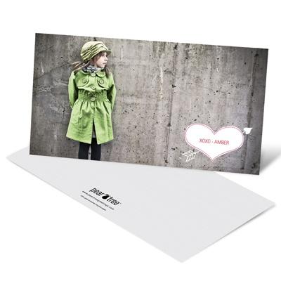 Cupid's Arrow Horizontal Photo Valentine's Day Photo Cards