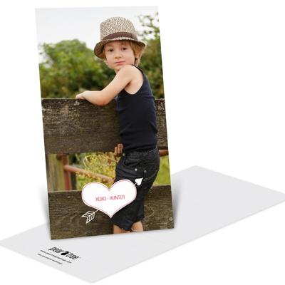 Cupid's Arrow Vertical Unique Valentine's Day Cards