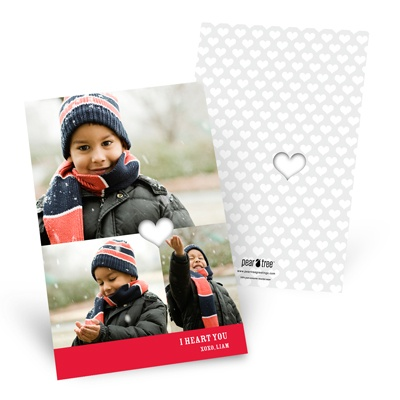 Cut-out Heart Valentine's Day Photo Cards