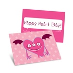 Pink Monster -- Kids Valentine's Day Cards