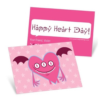 Three Eyed Monster Valentine's Day Cards for Kids