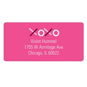 XOXO in Pink -- Valentine's Day Address Labels