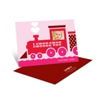 Choo Choo Love Train -- Kids Valentine Cards