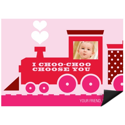 Choo Choo Love Train -- Kids Valentine Magnet