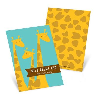 Wild Giraffes  Valentine's Day Cards for Kids