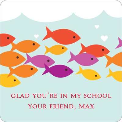 Sea of Love Valentine's Day Personalized Stickers