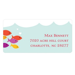 Sea of Love -- Valentine's Day Address Labels