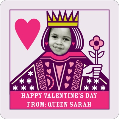 Queen of Hearts Valentine's Day Personalized Stickers