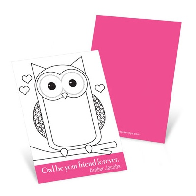 All Eyes on Owl  Valentine's Day Cards for Kids