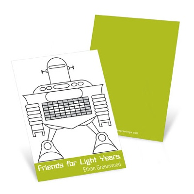Robot Love  Valentine's Day Cards for Kids
