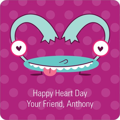 Monster Heart -- Valentine's Day Personalized Stickers
