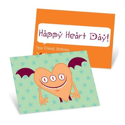 Orange Monster Valentine's Day Cards for Kids