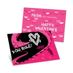 Dragon Puff in Pink -- Kids Valentine's Day Cards