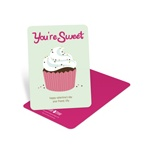 Sprinkled Cupcake -- Kids Valentine's Day Cards