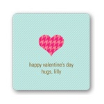 Hugs and Hearts -- Valentine's Day Personalized Stickers