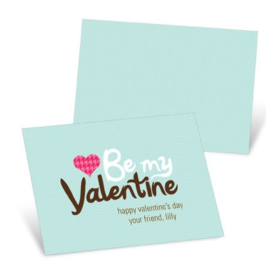 Stylish Message Valentine's Day Cards for Kids
