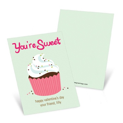 Sprinkled Cupcake -- Valentine's Day Cards for Kids