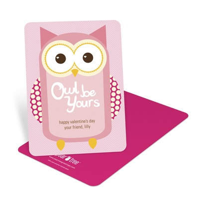 Whooo's Your Valentine? -- Kids Valentine's Day Cards
