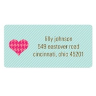 Hugs and Hearts Valentine's Day Address Labels