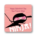 Ninja Power -- Valentine's Day personalized stickers