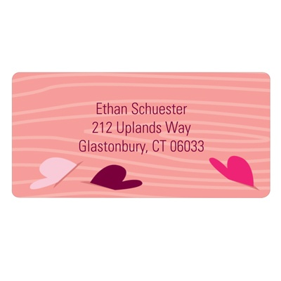 Floating Hearts Valentine's Day Address Labels
