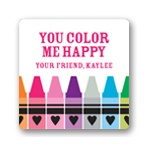 Color Me Happy -- Valentine's Day Personalized Stickers