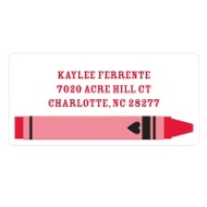 Color Me Happy Valentine's Day Address Labels