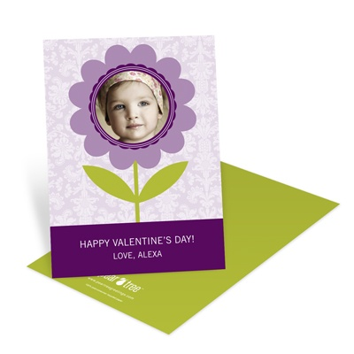 Flowered to Perfection -- Kids Valentine's Day Card