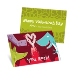 Dinosaurs Rock -- Cool Valentine's Day Cards