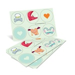 Fun Valentine Creatures -- Valentine Stickers