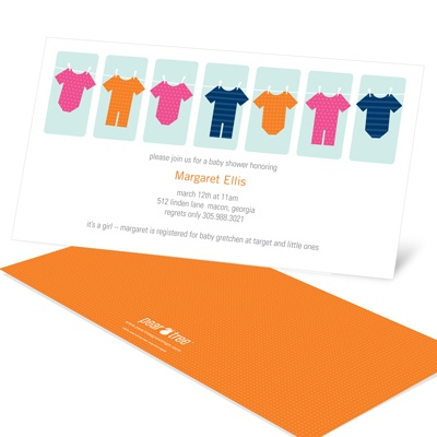 Clothespins and Onesies -- Creative Baby Shower Invitations