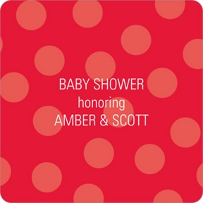 Ladybug Love Stickers -- Baby Shower Favor Tags