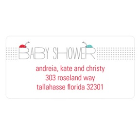 Ladybug Love -- Baby Address Labels