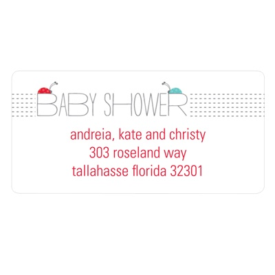 Ladybug Love Baby Address Labels