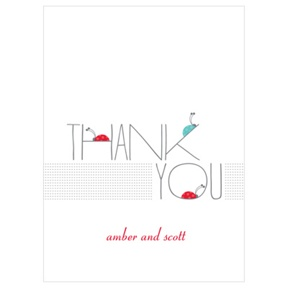 Ladybug Love -- Baby Thank You Cards