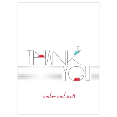 Ladybug Love Baby Thank You Cards