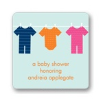 On the Line Onsies-- Baby Shower Favor Stickers