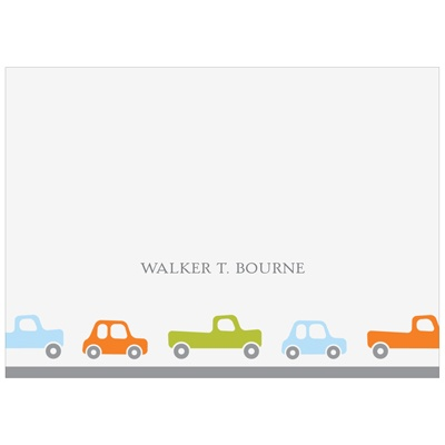 Cars and Trucks Traffic Horizontal Kids Stationery
