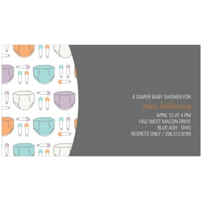 Pins and Diapers -- Baby Shower Invitations