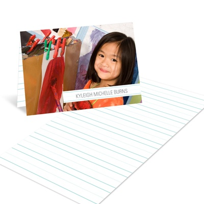 Notepad Stripes -- Kids Graduation Thank You Card