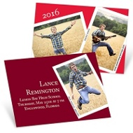 Snapshots and Memories Mini Graduation Announcements