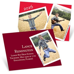 Snapshots and Memories -- Mini Graduation Announcements