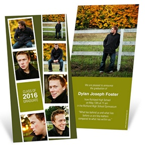 Photo Booth Strip -- Graduation Announcements
