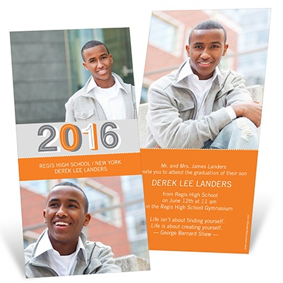 Simple Senior Moments -- Photo Graduation Invitation