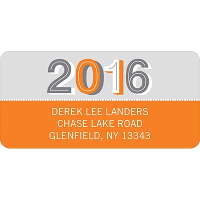 Simple Senior Moments -- Graduation Address Label
