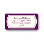 Modern Emblem -- Graduation Address Label