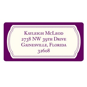 Modern Emblem -- Graduation Address Labels