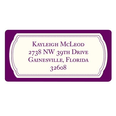 Modern Emblem Graduation Address Labels