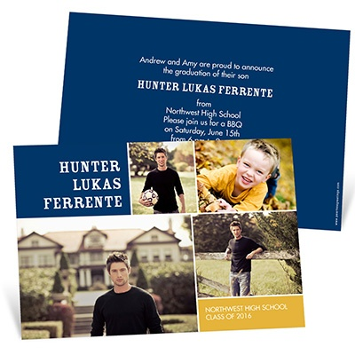 Memory Blocks Graduation Announcements