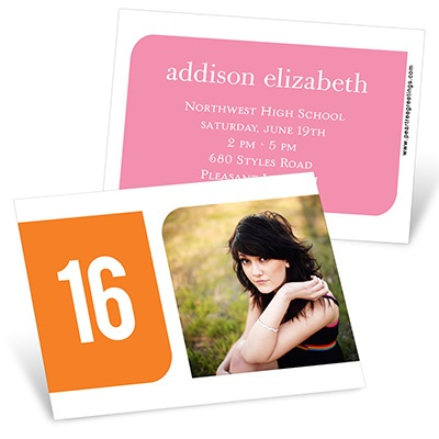 Modern Blocks Mini Graduation Announcements